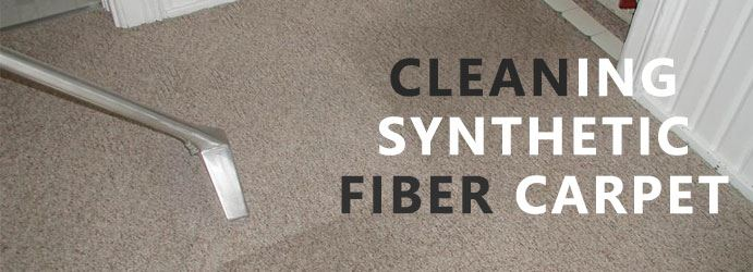 cleaning synthetic fiber carpet